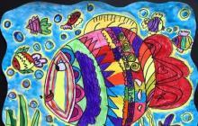人教版小学美术一年级上册《鱼儿游游》听课评课记录