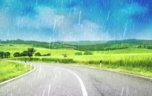 雨天路滑温馨提示语